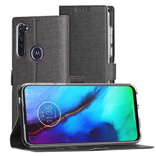 FUNMAX+ Moto G Pro Hülle, PU Leder Handyhülle mit Kartenfächer, Schutzhülle Case Tasche Flip Cover Magnetverschluss Stoßfest Brieftasche für Motorola Moto G Pro (Schwarz)