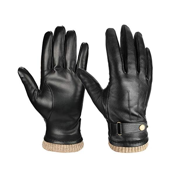 Ozero Nappa Leather Mens Winter Gloves 1