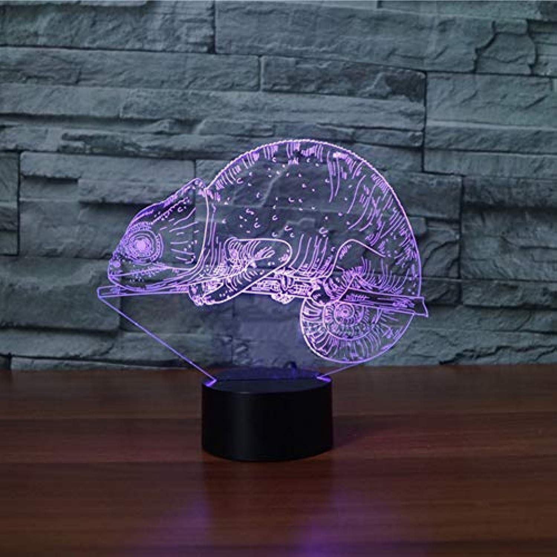 WZYMNYD 7 Farbwechsel 3D LED Illusion Für Kinder Schlafzimmer Geschenke Visuelle Luminars NightLight Chameleon USB Urlaub Beleuchtung Tischlampe