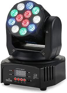 Tomshine 40W DJ Lights 12 LED Moving Head Lights Stage Lights Par Lighting Strobe RGBW Disco Lights 7/13 Channel DMX512 Sound Activated for Party KTV Pub Bar Show Wedding Ceremony