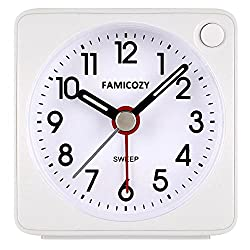 in budget affordable Miniature alarm clock, quiet travel alarm clock with snooze function FAMICOZY and …