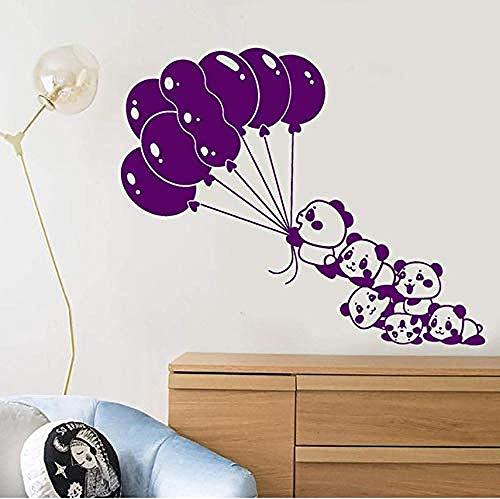 Wall Stickers Decal Cartoon Babies Panda Balloons Bears Home Decor Art Mural Wallpaper Wall Stickers 57X47Cm