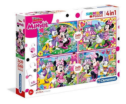 Clementoni Mouse 20 2 Puzzles 60 Piezas Minnie Happy Helpers, Multicolor (07615.4)