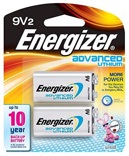 Energizer Advanced Lithium 9V Batteries, 2 Count