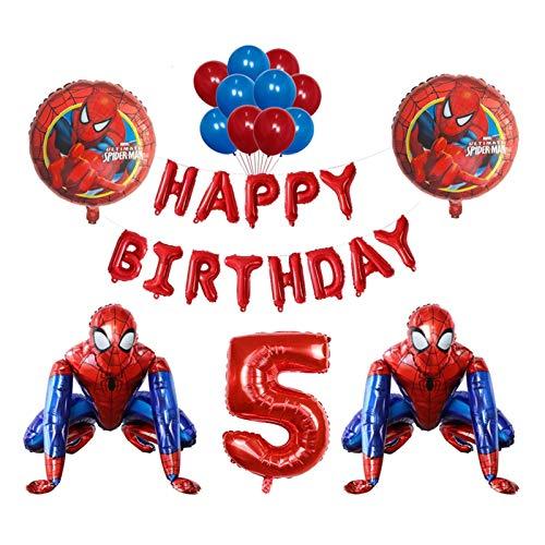 LEILEIMY Globo 3D Foil Balloon Spiderman Fiesta de cumpleaños Decoración de niños Juguete para niños Baby Shower Blowoon Photo Props Festival (Color : 5)