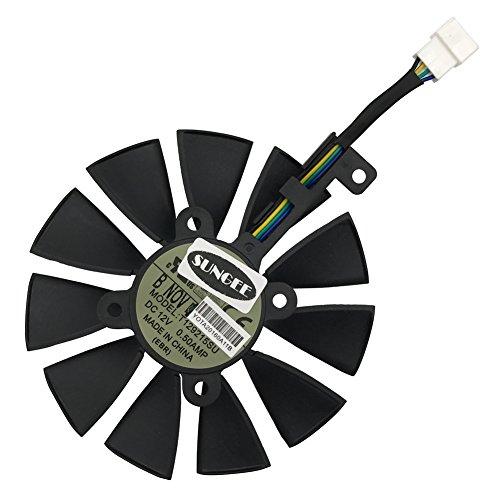 88mm T129215SU 6-Pin DC 12V 0.50A Cooling Fan For ASUS STRIX Raptor GTX980Ti R9 390X R9 390 GTX1060 GTX1070 GTX1080 RX480 Graphics Card Cooler Cooling Fans (FAN-A (1Pcs))