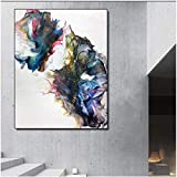 Wallpaper M Colores Abstractos Arte Lienzo Pintura Arte Moderno de la Pared Imágenes para Carteles e Impresiones de la Sala Decoración- 50x70cm Sin Marco