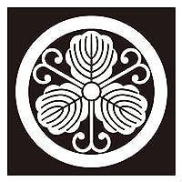 貼り紋シールタイプ6枚1組 黒地着物・羽織用 (丸につる柏) 女性用 (ゆうパケット発送)