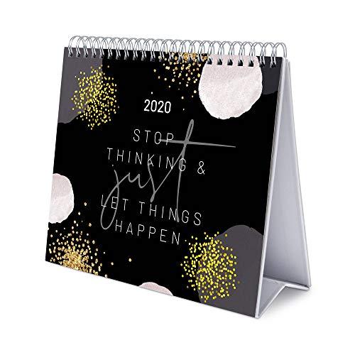 ERIK - Calendario de Escritorio Deluxe 2020 Glitter Gold Dreams (17x20 cm)