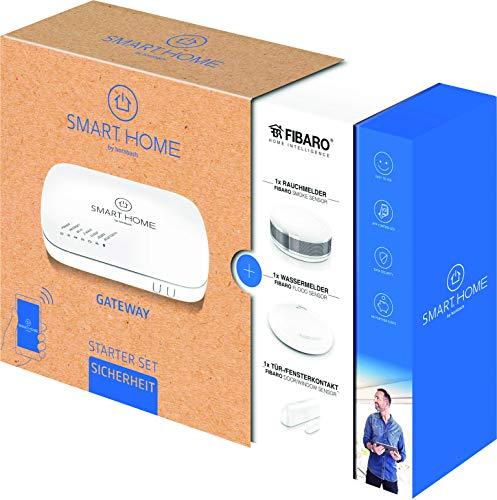 SMART HOME by hornbach Starter Set Sicherheit Gateway, Fibaro Tür-Fensterkontakt, Fibaro Rauchmelder, Fibaro Wassermelder - 2