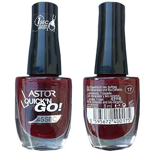 Astor 45 Seconds Quick'n Go Nagellack, Farbe 017, 1er Pack (1 x 8 ml)