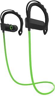 Universal Q12 Wireless V4.1 CSR8635 Chip Earphone Sport Running Auriculares estéreo Bajos con micrófono-Verde