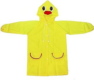 Rainwear YWXJY Kids Transparent Raincoat Poncho Waterproof Hood Jacket