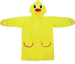 Tuaus Rain Jacket Little Boys Rain Jacket Girls Cartoon Waterproof Hooded Long Rainwear Girls Waterproof Raincoats Kids Hooded Jacket Coat, Cartoon Zipper Hoodies Hooded Raincoat Kids 2-8 Years