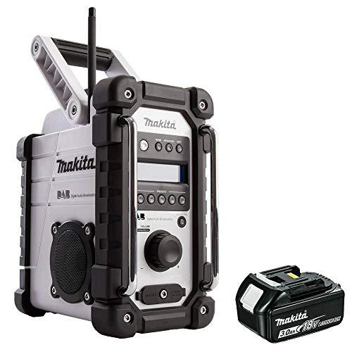 Makita DMR109W DAB 10.8v-18v LXT/CXT LI-ion Job Site Radio with 1 x 3.0Ah Battery