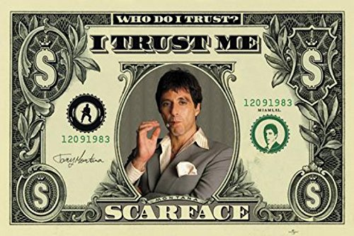 1art1 Scarface - Dollar Bill Poster 91 x 61 cm