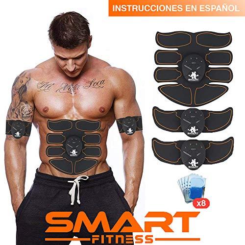 Smartbox 【Marca Oficial】 Smart Fitness™ Electroestimulador Muscular Abdominales, Estimulación Muscular, Masajeador Eléctrico, Cinturón Adominal, Brazos/Piernas/Glúteos. (Hombres/Mujeres)