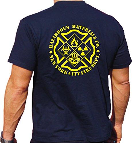 T-shirt Hazardous materiaal CO.1 gevaarlijke stoffen eenheid van New Yorker brandweer, zwart