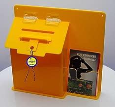Alsino Briefkasten Postkasten Wandbriefkasten Stahlbriefkasten pulverbeschichtet Befestigungsmaterial inklusive BRK-66011 2 Schl/üsseln wei/ß