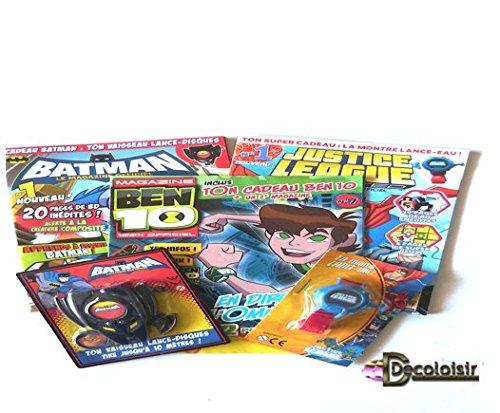 Comics Pochette Enfant lot 3 Livres Batman + 2 Jouets