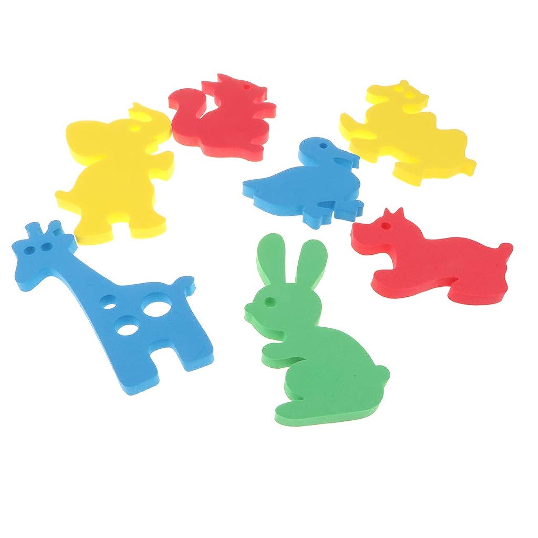 B Baosity 柔らかい ベビー バス パズル 浮遊おもちゃ 入浴おもちゃ お風呂おもちゃ 教育玩具 全2色 - #1