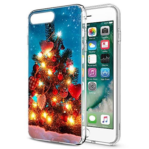 Pnakqil Funda iPhone SE 2020 / iPhone 7 / iPhone 8 Transparente con Navidad Dibujos Ultraslim Antigolpes Silicona...