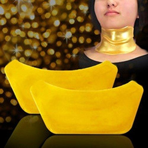 5starwarehouse ® 2 x Masque collagène cou anti-rides sacs vieillissement cristal Paupière Patch Pad Crème hydratante – 5Star Chiffon inclus