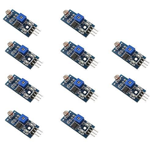 ZkeeShop 10 stücke Fotowiderstand Modul Photoresistor Licht Sensor Modul Compatible für Arduino
