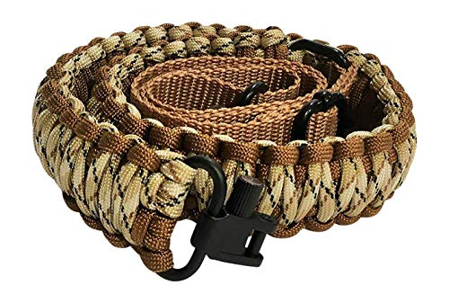 Ten Point Gear Gun Sling Paracord 550 Adjustable w/Swivels (Multiple Color Options) (Brown & Tan Camo)