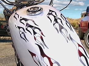 No. 28 Patriotic Edition Old School Flame decals for Motorcycle tank, fenders, helmet - American Flag