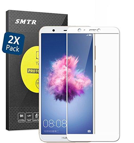 [2 Pack] Pellicola Protettiva Huawei P Smart,SMTR® Huawei P Smart Vetro Temperato Pellicola Protettiva Glass Screen,[resistant Scratch][Super chiaro][Facilità di installazione]...