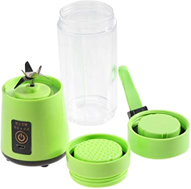 Portable Mixer-USB Rechargeable Plactic Juicer-Personal Size Smoothies and Shakes 350-400ML 3 Colors-for Vegetables,Fruits,Co