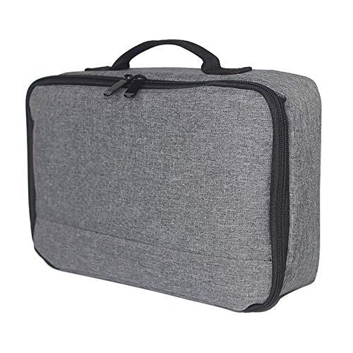 Faderr Projektortasche mit Schutzhülle für Laptop, Projektor Tragetasche mit Zubehörtaschen (grau)