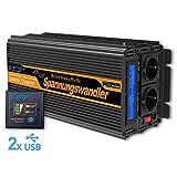 EDECOA Inversor 12v 220v Onda Pura inversor 1000w convertidor de Voltaje...