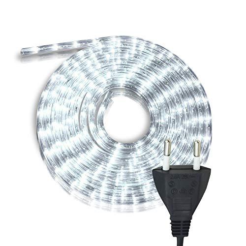 Hengda LED Lichtschlauch, 20m Lichterkette, Weiß Lichtschläuche Wasserdicht, Lichtschläuche für Innen Außen Deko, Party, Hochzeit, Balkon, Garten, Weihnachtsbaum
