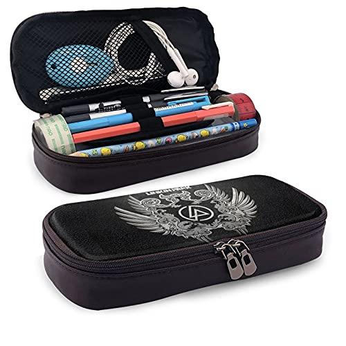 Linkin-Park - Estuche de gran capacidad para lápices, organizador de escritorio con cremallera, para escuela y oficina