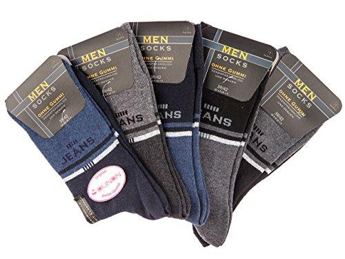 SOUNON 10 Paar Herren Socken ohne Gummi (72202), Groesse: 43-46
