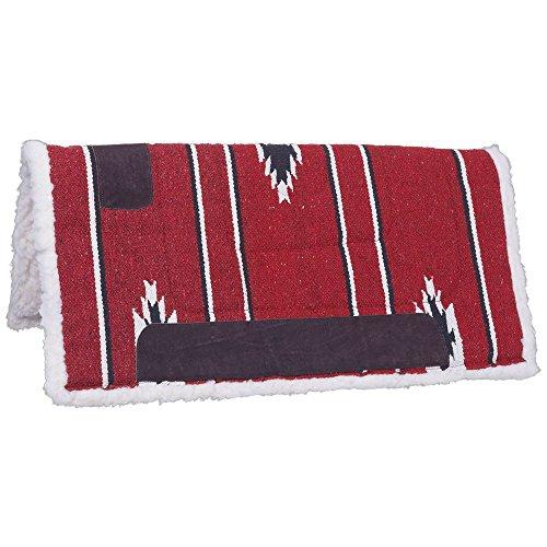 Tough 1 Robust 1 Sattel Square Pad/Fleece unten, Red/Black/Cream, 30