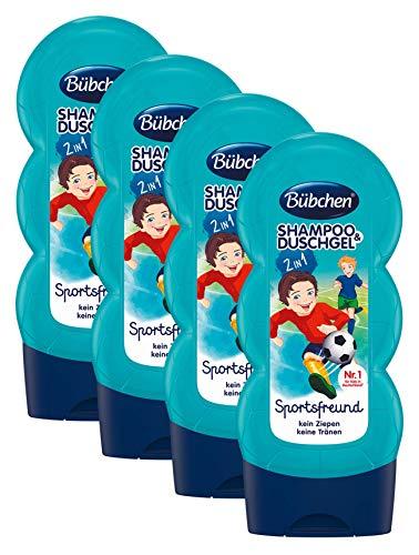 Bübchen Kids Shampoo und Duschgel Sportsfreund, Kinder-Shampoo und -duschgel, pH-hautneutrale Pflege für Kinderhaut, mit frischem Duft, Menge: 1 x 230 ml