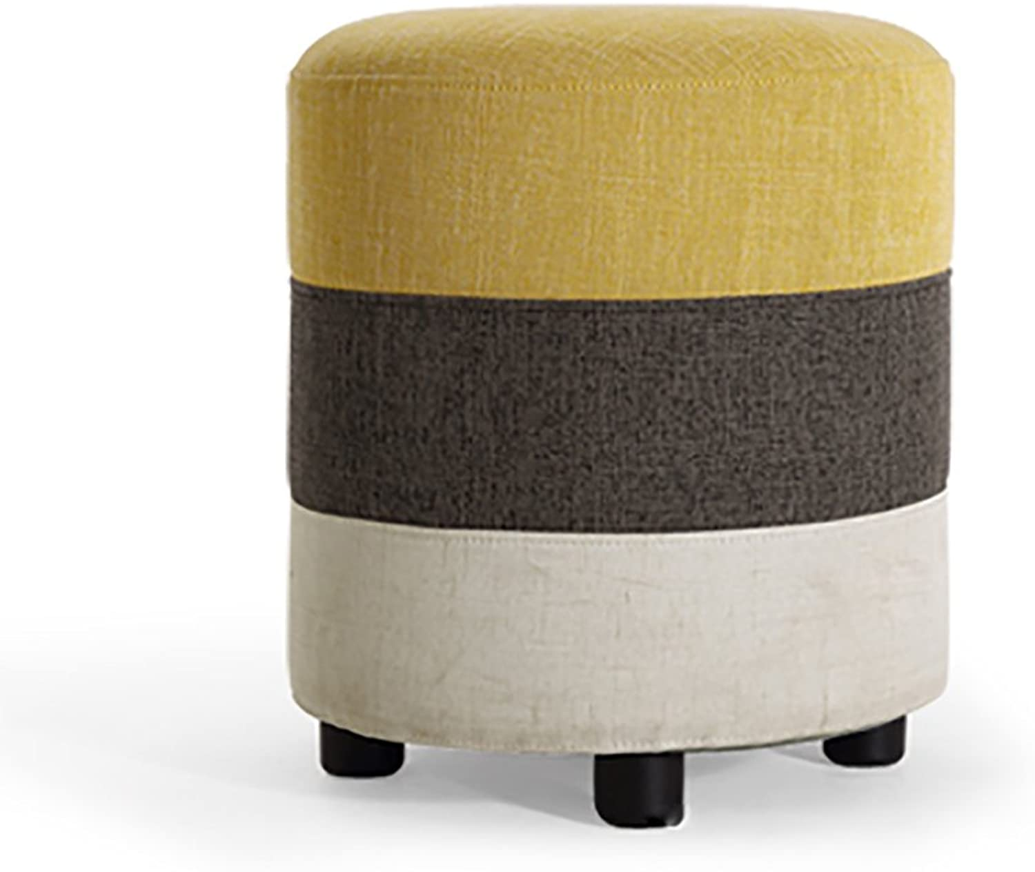 Round Stool Cloth Art Wooden Footstool Soft Package The Bedroom Dresser Dressing Stool Makeup Stool