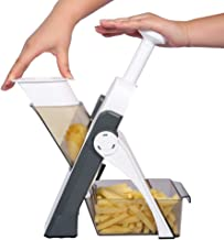 Adjustable Mandoline Slicer Safe Vegetable Slicer by ONCE FOR ALL Food Chopper Vegetable Cutter Quick Dicer Fruit French Fry Julienne