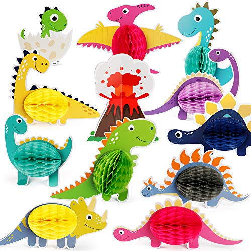 Mocoosy 12 centros de mesa para decoración de mesa, diseño de dinosaurios para niños, diseño de dinosaurios, cumpleaños, fiesta de bebé