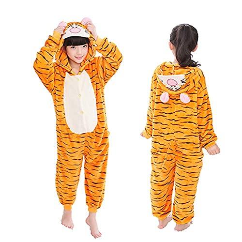 Pijamas Enteros Pijamas para niños, Mono Kiguru-mis, para niños y niñas, Franela, León, Tigre, Mono de Invierno, Lindo, Animal-D_10T