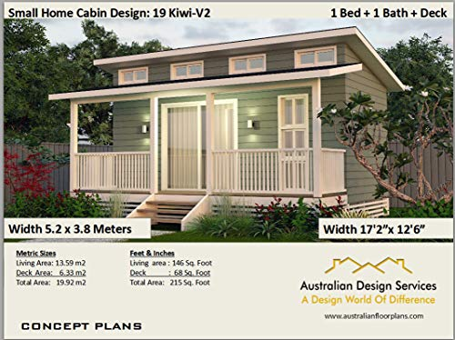Amazon Com Affordable Tiny House Plan All New Design 215 Sq Ft Or 19 92 Sq Meters Full Architectural Concept House Plans Includes Detailed Floor Plan And Elevation Plans Ebook Morris Chris Designs Australian