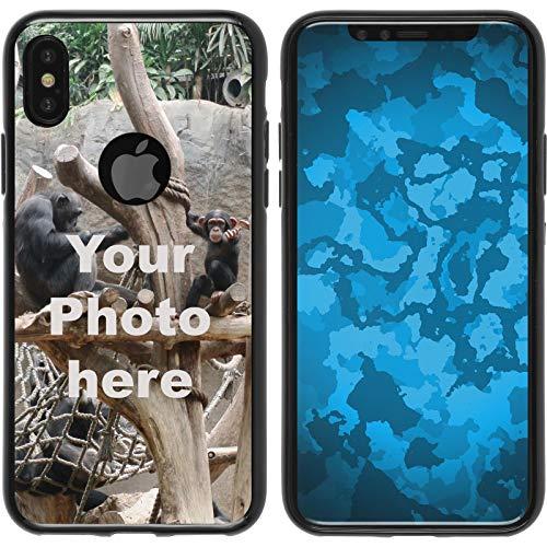 PhoneNatic Case kompatibel mit iPhone XS Max Personalisierte Handyhülle schwarz zum selbst gestalten mit eigenem Foto