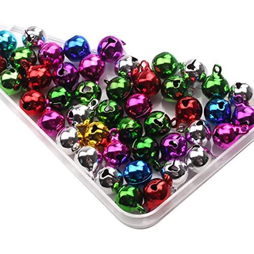 Newin Star Navidad 30 PCS Mini de Colores de Navidad de los cascabeles pequeñas Campanas de Metal para Collar para...