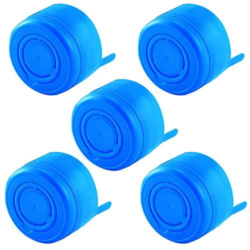 3 & 5 Gallon Water Jug Cap Replacement Non Spill Bottle Caps Anti Splash Peel Pack of 5
