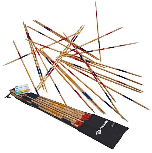 Schildköt Mikado Set, die Riesenversion des Spiele-Klassikers, 25 Stäbe, 90 cm Länge, aus FSC zertifiziertem Holz, 970110
