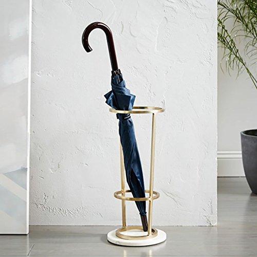 Stockage debout Porte-parapluie de qualité ultra-haute, décoration du couloir d'entrée, porte-parapluie moderne en métal pour la maison, seau à parapluie (Color : Gold)