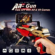 Mobile Phone Stand AR Game Gun Toy Bluetooth Toys Portable 360-Degree Augmented Reality Intelligent Virtual Video Game with Stand Holder for iPhone and Android All Smart Phone More Free Apps